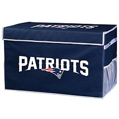 Franklin Sports New England Patriots Small Collapsible Footlocker Storage Bin