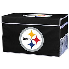 Franklin Sports Pittsburgh Steelers Small Collapsible Footlocker Storage Bin