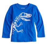 Toddler Boy Jumping Beans® Dinosaur Bones Slubbed Graphic Tee