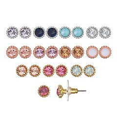 LC Lauren Conrad Tri Tone Simulated Stone Earring Set