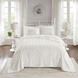 Madison Park Sarah 3-piece Cotton Chenille Bedspread Set