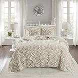 Madison Park Sarah 3-piece Cotton Chenille Bedspread Set
