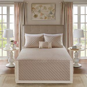 Madison Park Levine 4-piece Tailored Bedspread Set