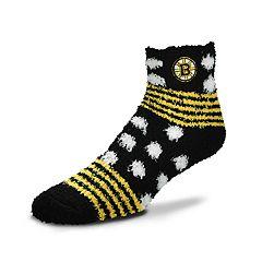 Women's For Bare Feet For Bare Feet Boston Bruins Plush Ankle Socks
