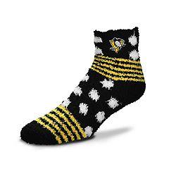 Women's For Bare Feet For Bare Feet Pittsburgh Penguins Plush Ankle Socks