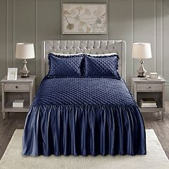 Madison Park Cosette Velvet 3-piece Bedspread Set