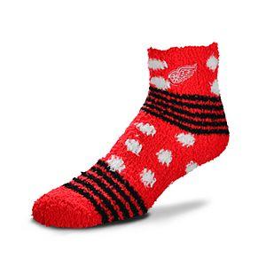Women's For Bare Feet For Bare Feet Detroit Red Wings Plush Ankle Socks
