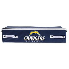Franklin Sports Los Angeles Chargers Large Under-the-Bed Storage Bin