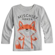"Toddler Boy Jumping Beans® ""Mischief Maker"" Fox Long Sleeve Graphic Tee"