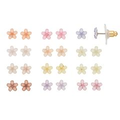 LC Lauren Conrad Pastel Flower Stud Earring Set