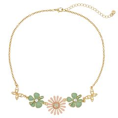 LC Lauren Conrad Mixed Flower Necklace