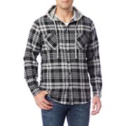 Big & Tall Unionbay Unionbay Switchback Flannel Hooded Button-Down Shirt