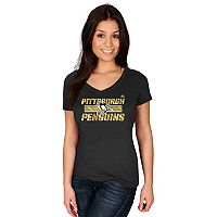 Women's Majestic Pittsburgh Penguins Stick To Stick Tee