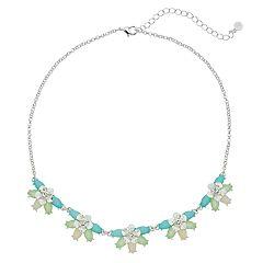 LC Lauren Conrad Half Flower Necklace