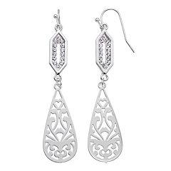 LC Lauren Conrad Filigree Teardrop Nickel Free Drop Earrings
