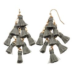 LC Lauren Conrad Cluster Mini Tassel Nickel Free Drop Earrings