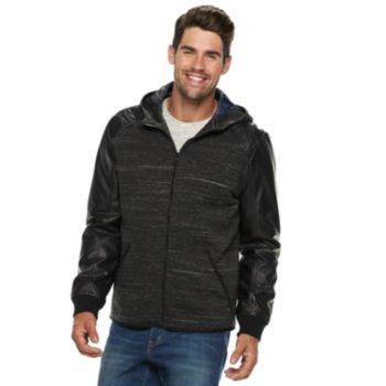 Men's Urban Republic Melange Faux-Leather Jacket