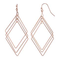 LC Lauren Conrad Geometric Nickel Free Drop Earrings