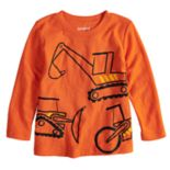 Toddler Boy Jumping Beans® Construction Trucks Slubbed Graphic Tee