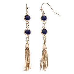 LC Lauren Conrad Tassel Nickel Free Linear Earrings