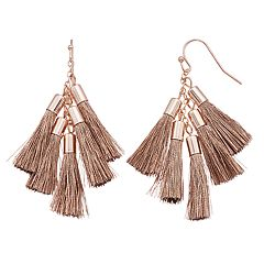 LC Lauren Conrad Cluster Tassel Nickel Free Drop Earrings