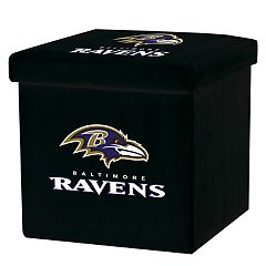 Franklin Sports Baltimore Ravens Storage Ottoman with Detachable Lid