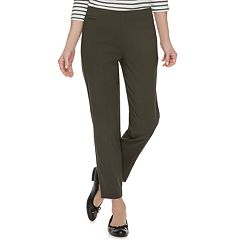 Petite Croft & Barrow® Polished Pull-On Ankle Pants