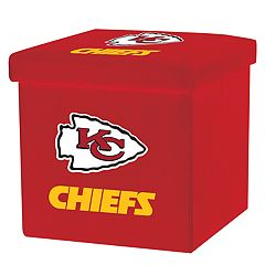 Franklin Sports Kansas City Chiefs Storage Ottoman with Detachable Lid