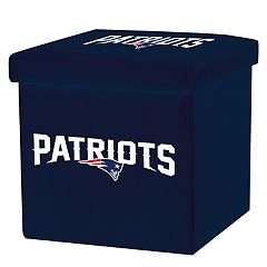 Franklin Sports New England Patriots Storage Ottoman with Detachable Lid