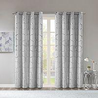 Intelligent Design Khloe Blackout Metallic Window Curtain
