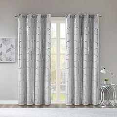 Intelligent Design Blackout 1-Panel Khloe Metallic Window Curtain