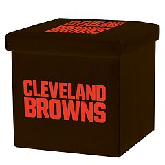 Franklin Sports Cleveland Browns Storage Ottoman with Detachable Lid