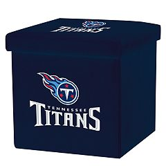 Franklin Sports Tennessee Titans Storage Ottoman with Detachable Lid