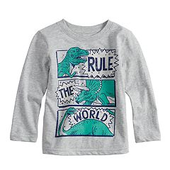 Toddler Boy Jumping Beans® Dinosaur 'Rule The World' Heathered Graphic Tee