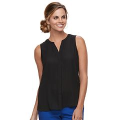 Women's Apt. 9® Pleat-Back Georgette Shell Tank