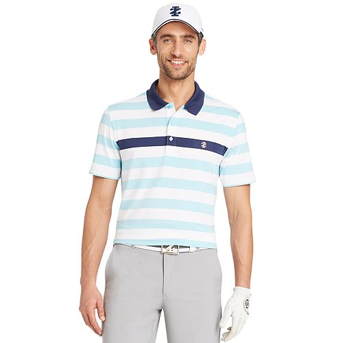 a8493849e9 Men's IZOD Hero Classic-Fit Engineer-Striped Performance Golf Polo