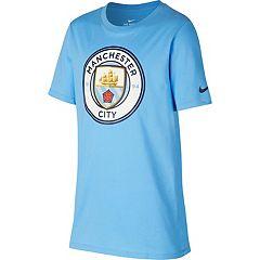 Boys 8-20 Nike Manchester City FC Crest Tee
