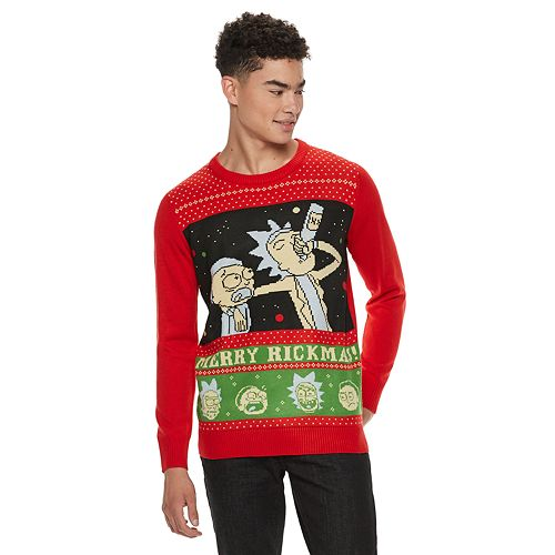 Rick And Morty Christmas Sweater.Men S Rick Morty Christmas Sweater