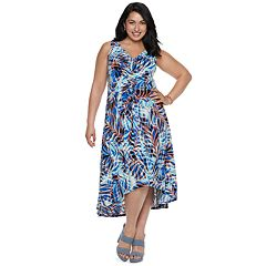 Plus Size Suite 7 High-Low Dress