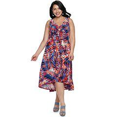 Plus Size Suite 7 High-Low Dress