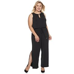 Plus Size Suite 7 Slit Jumpsuit