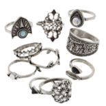 Mudd® Leaf, Shield & Filigree Ring Set