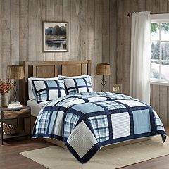 Woolrich Huntington 3-piece Reversible Oversized Cotton Quilt Set