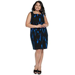 Plus Size Suite 7 Printed Fit & Flare Dress