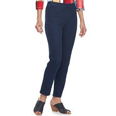 Women's Alfred Dunner Studio Pull-On Straight Leg Jeans