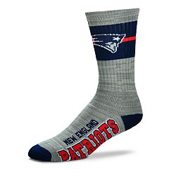 Men's For Bare Feet New England Patriots Deuce Band Crew Socks