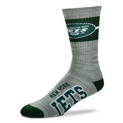 Men's For Bare Feet New York Jets Deuce Band Crew Socks