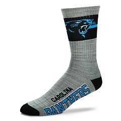 Men's For Bare Feet Carolina Panthers Deuce Band Crew Socks