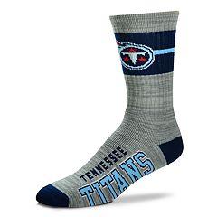Men's For Bare Feet Tennessee Titans Deuce Band Crew Socks