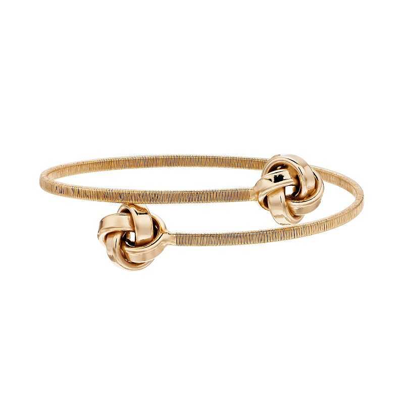 Sterling Silver Love Knot Bangle